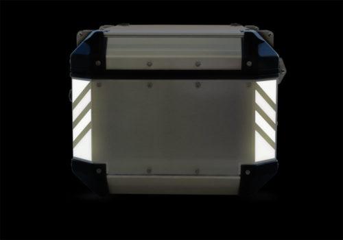 GISTI 3073 Givi Trekker Outback Top Box 42lt 58lt Black Reflective Stripes Stickers Kit 02