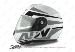 HEL 3076 Schuberth C3 Pro Helmet White Silver Vivo ADV Grey Black Stickers Kit 01