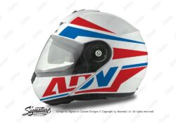 HEL 3077 Schuberth C3 Pro Helmet White Silver Vivo ADV Red Blue Stickers Kit 01