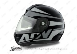 HEL 3079 Schuberth C3 Pro Helmet Black Anthracite Vivo ADV Grey Variations Stickers Kit 01
