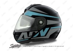 HEL 3081 Schuberth C3 Pro Helmet Black Anthracite Vivo ADV Light Blue Grey Stickers Kit 01