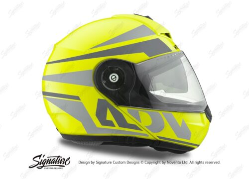 HEL 3083 Schuberth C3 Pro Helmet Fluo Yellow Vivo ADV Grey Variations Stickers Kit 02
