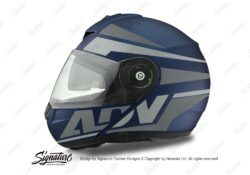 HEL 3085 Schuberth C3 Pro Helmet Blue Matte Vivo ADV Grey Variations Stickers Kit 01