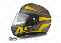 HEL 3086 Schuberth C3 Pro Helmet Metal Matte Vivo ADV Yellow Grey Stickers Kit 01
