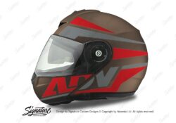 HEL 3087 Schuberth C3 Pro Helmet Metal Matte Vivo ADV Red Grey Stickers Kit 01