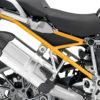 BFS 3103 BMW R1200GS LC 2013 2016 Alpine White Subframe Wrap Yellow 02