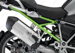 BFS 3106 BMW R1200GS LC 2013 2016 Thunder Grey Subframe Wrap Toxic Green 02
