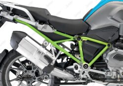 BFS 3121 BMW R1200GS LC 2013 2016 Fire Blue GS Frame Wrap Toxic Green 02
