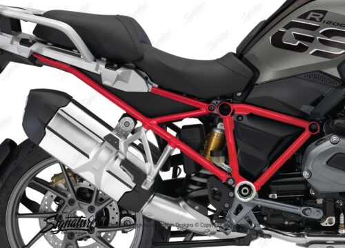 BFS 3128 BMW R1200GS LC 2017 Style Exclusive GS Frame Wrap Red 02