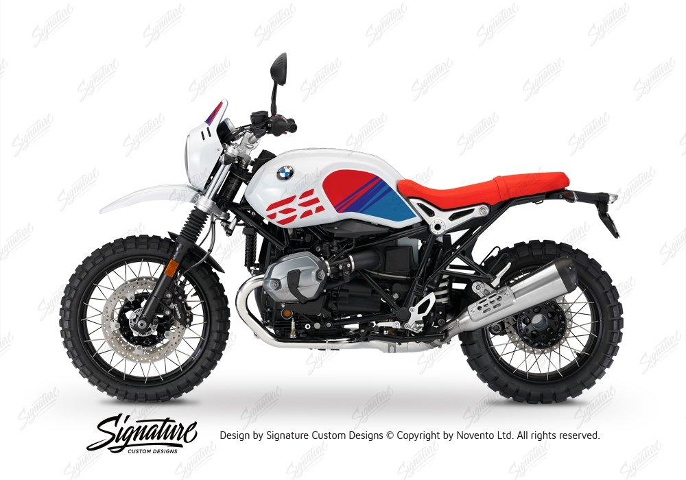 BKIT 3143 BMW RnineT Urban GS Limited Edition Side Tank and Front Fender MSport Stickers Kit 03 1