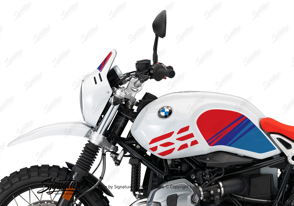 BKIT 3143 BMW RnineT Urban GS Limited Edition Side Tank and Front Fender MSport Stickers Kit 04 1