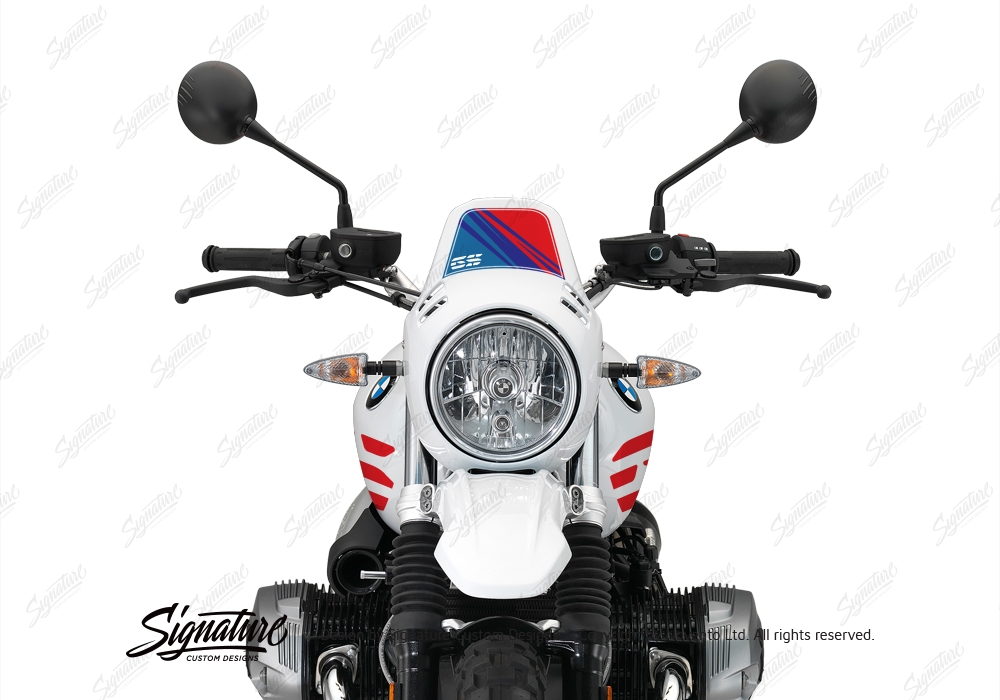 BKIT 3143 BMW RnineT Urban GS Limited Edition Side Tank and Front Fender MSport Stickers Kit 05 1