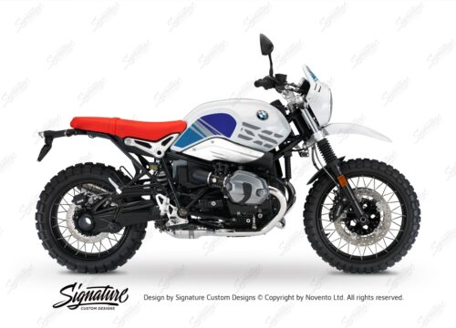 BKIT 3144 BMW RnineT Urban GS Limited Edition Side Tank and Front Fender Blue Variations Stickers Kit 01 1