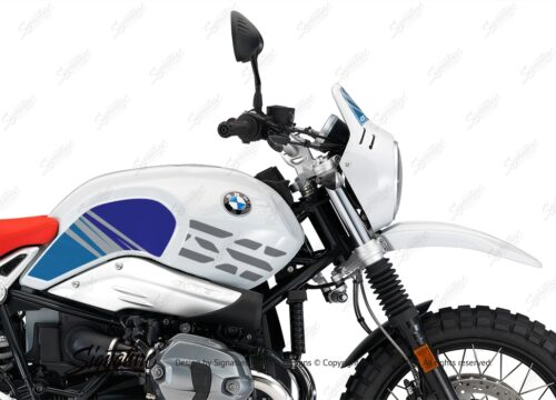 BKIT 3144 BMW RnineT Urban GS Limited Edition Side Tank and Front Fender Blue Variations Stickers Kit 02 1