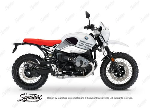 BKIT 3145 BMW RnineT Urban GS Limited Edition Side Tank and Front Fender Grey Variations Stickers Kit 01 1