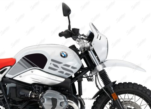 BKIT 3145 BMW RnineT Urban GS Limited Edition Side Tank and Front Fender Grey Variations Stickers Kit 02 1