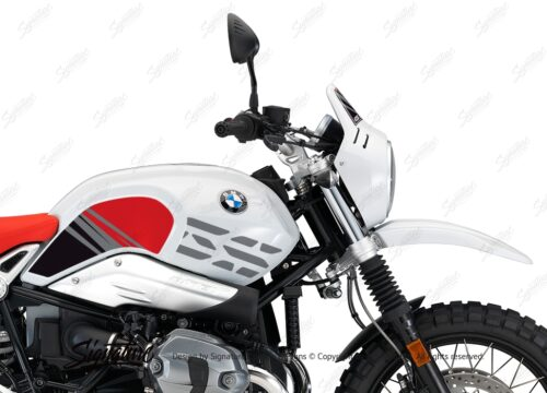 BKIT 3146 BMW RnineT Urban GS Limited Edition Side Tank and Front Fender Red Grey Stickers Kit 02 1