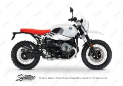 BKIT 3148 BMW RnineT Urban GS Side Tank Replica Black Grey Stickers Kit 01