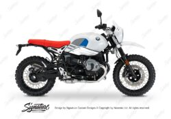 BKIT 3149 BMW RnineT Urban GS Side Tank Replica Blue Grey Stickers Kit 01
