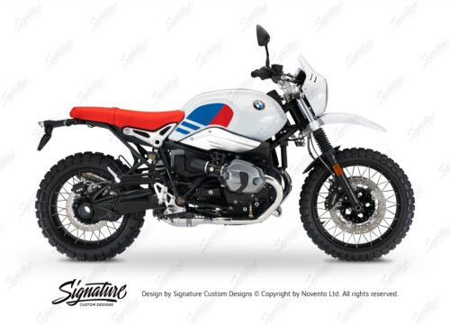 BKIT 3150 BMW RnineT Urban GS Side Tank Replica Red Blue Stickers Kit 01