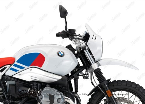 BKIT 3150 BMW RnineT Urban GS Side Tank Replica Red Blue Stickers Kit 02