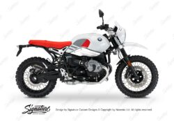 BKIT 3151 BMW RnineT Urban GS Side Tank Replica Red Grey Stickers Kit 01