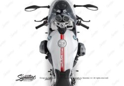 BKIT 3152 BMW RnineT Racer Top Tank Stickers Kit Red 02