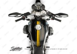 BKIT 3156 BMW RnineT Top Tank Double Line Stickers Kit Yellow Gloss 02