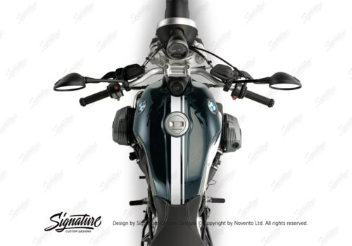 BKIT 3158 BMW RnineT Pure Top Tank Double Line Stickers Kit White 02