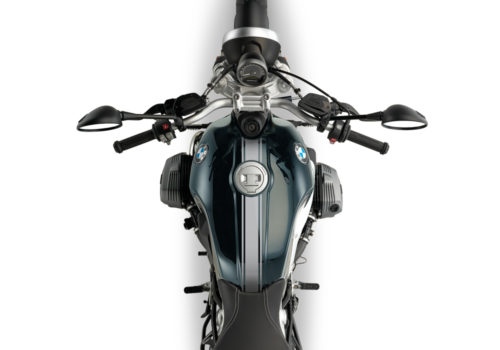 BKIT 3159 BMW RnineT Pure Top Tank Triple Line Stickers Kit Silver Brushed 02