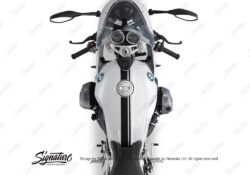 BKIT 3160 BMW RnineT Racer Top Tank Double Line Stickers Kit Black 02