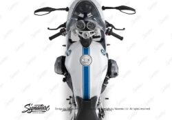 BKIT 3161 BMW RnineT Racer Top Tank Triple Line Stickers Kit Cobalt Blue 02