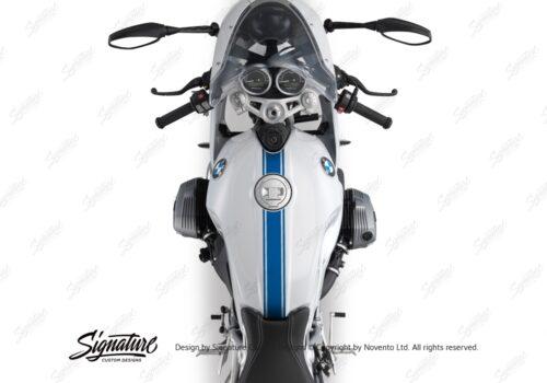 BKIT 3161 BMW RnineT Racer Top Tank Triple Line Stickers Kit Cobalt Blue 02