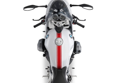 BKIT 3161 BMW RnineT Racer Top Tank Triple Line Stickers Kit Red 02