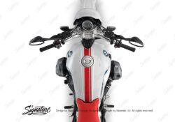 BKIT 3164 BMW RnineT Urban GS Top Tank Double Line Stickers Kit Red 02