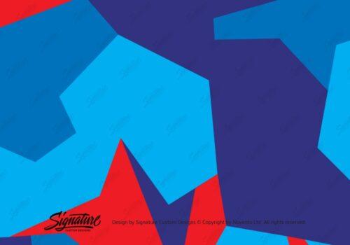 Camo Wrap Red Blue