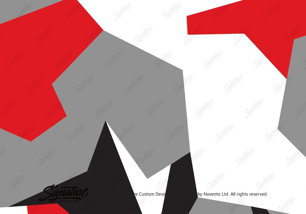 Camo Wrap Red Grey