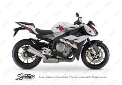 BKIT 3171 BMW S1000R Light White Alive Series Black Red Grey Stickers Kit 01