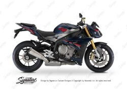 BKIT 3175 BMW S1000R Frozen Dark Blue Metallic Matte Alive Series Black Red Grey Stickers Kit 01