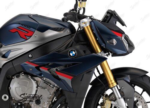 BKIT 3175 BMW S1000R Frozen Dark Blue Metallic Matte Alive Series Black Red Grey Stickers Kit 02