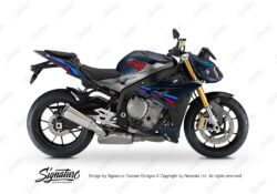 BKIT 3176 BMW S1000R Frozen Dark Blue Metallic Matte Alive Series Msport Colours Stickers Kit 01