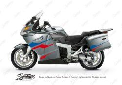 BKIT 3177 BMW K1200GT Aventurin Silver Metallic Stingray Series Blue Red Stickers Kit 01