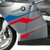 BKIT 3177 BMW K1200GT Aventurin Silver Metallic Stingray Series Blue Red Stickers Kit 02