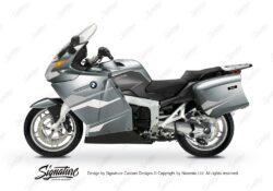 BKIT 3178 BMW K1200GT Aventurin Silver Metallic Stingray Series Silver White Stickers Kit 01