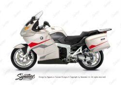 BKIT 3182 BMW K1200GT Crystal Grey Stingray Series Red Silver Stickers Kit 01