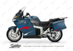 BKIT 3183 BMW K1200GT Deep Blue Metallic Stingray Series Blue Red Stickers Kit 01