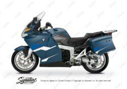 BKIT 3184 BMW K1200GT Deep Blue Metallic Stingray Series Blue White Stickers Kit 01