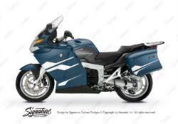 BKIT 3187 BMW K1200GT Deep Blue Metallic Stingray Series White Stickers Kit 01