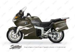 BKIT 3190 BMW K1200GT Magnesium Beige Metallic Stingray Series White Stickers Kit 01