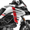 DKIT 3168 Ducati Multistrada 950 Star White Silk Wind Series Red Grey Black Stickers Kit 02
